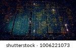 blockchain network concept  ... | Shutterstock . vector #1006221073