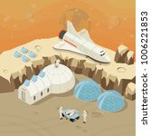 isometric planet exploration... | Shutterstock .eps vector #1006221853