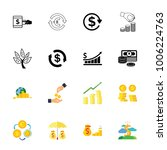 money icon set | Shutterstock .eps vector #1006224763