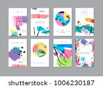 set of creative universal... | Shutterstock .eps vector #1006230187