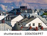 view on rooftops of alesund ... | Shutterstock . vector #1006506997