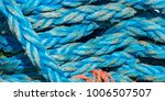 detail view on ropes on boat in ... | Shutterstock . vector #1006507507