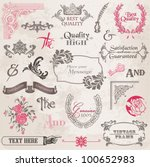 vector set  calligraphic design ... | Shutterstock .eps vector #100652983