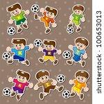 soccer stickers | Shutterstock .eps vector #100653013