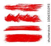set of paint  brush strokes  ... | Shutterstock .eps vector #1006531093