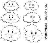 vector set of cloud cartoon