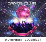 dance club vector template