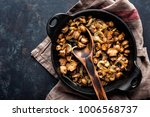 mushrooms champignon fried with ... | Shutterstock . vector #1006568737