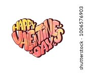 happy valentines day romantic... | Shutterstock .eps vector #1006576903