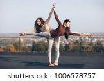 two young beautiful women doing ... | Shutterstock . vector #1006578757