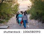 romantic bonfire night at...   Shutterstock . vector #1006580593