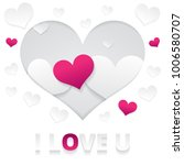 i love you greeting card.... | Shutterstock .eps vector #1006580707
