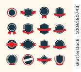 vintage badge label template | Shutterstock .eps vector #1006580743