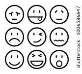 nine smilies  set smiley... | Shutterstock .eps vector #1006586647