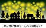 winter concept of silhouettes... | Shutterstock .eps vector #1006586977