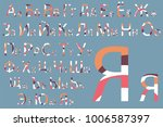 concept font design. modern... | Shutterstock .eps vector #1006587397