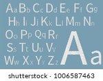 concept font design. modern... | Shutterstock .eps vector #1006587463