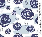 feminine floral seamless... | Shutterstock .eps vector #1006587637