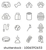 dog or pet friend icons thin... | Shutterstock .eps vector #1006592653