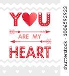 vector valentine's day card...   Shutterstock .eps vector #1006592923