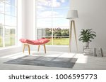 idea of white room with... | Shutterstock . vector #1006595773