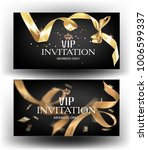 vip invitation banners with... | Shutterstock .eps vector #1006599337
