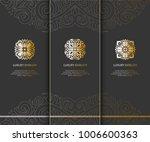 vector emblem. elegant  classic ... | Shutterstock .eps vector #1006600363