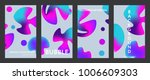 liquid color covers set. fluid... | Shutterstock .eps vector #1006609303