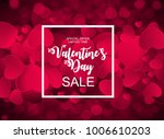 valentines day sale  discont... | Shutterstock .eps vector #1006610203
