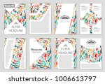 abstract vector layout... | Shutterstock .eps vector #1006613797