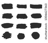black vector ink brush strokes... | Shutterstock .eps vector #1006627363