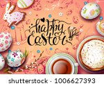 vector card with realistic 3d... | Shutterstock .eps vector #1006627393