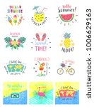 set of summer color hand... | Shutterstock .eps vector #1006629163