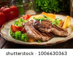 succulent portions of grilled... | Shutterstock . vector #1006630363