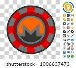 monero casino chip icon with...