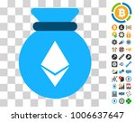 ethereum sack pictograph with...