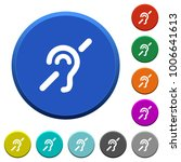 hearing impaired round color... | Shutterstock .eps vector #1006641613