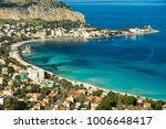 view of the seaside resort town ...   Shutterstock . vector #1006648417
