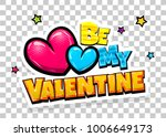 Be My Valentine Day Heart Comi...