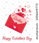 love letter and hand painted... | Shutterstock .eps vector #1006649773