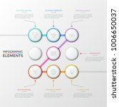 nine white round elements with... | Shutterstock .eps vector #1006650037