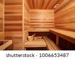 amazing home sauna room with... | Shutterstock . vector #1006653487