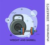 kettlebell and dumbbell.... | Shutterstock .eps vector #1006653973
