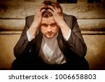 portrait of angry  frustrated... | Shutterstock . vector #1006658803
