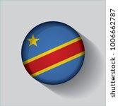 button flag of democratic... | Shutterstock .eps vector #1006662787