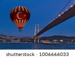 red hot air balloons flying... | Shutterstock . vector #1006666033