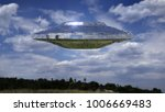 ufo  science fiction scene with ... | Shutterstock . vector #1006669483