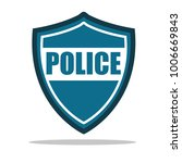 police icon vector illustration ... | Shutterstock .eps vector #1006669843