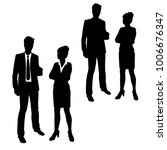 vector silhouettes of man and... | Shutterstock .eps vector #1006676347