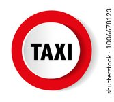 taxi icon on red   Shutterstock .eps vector #1006678123